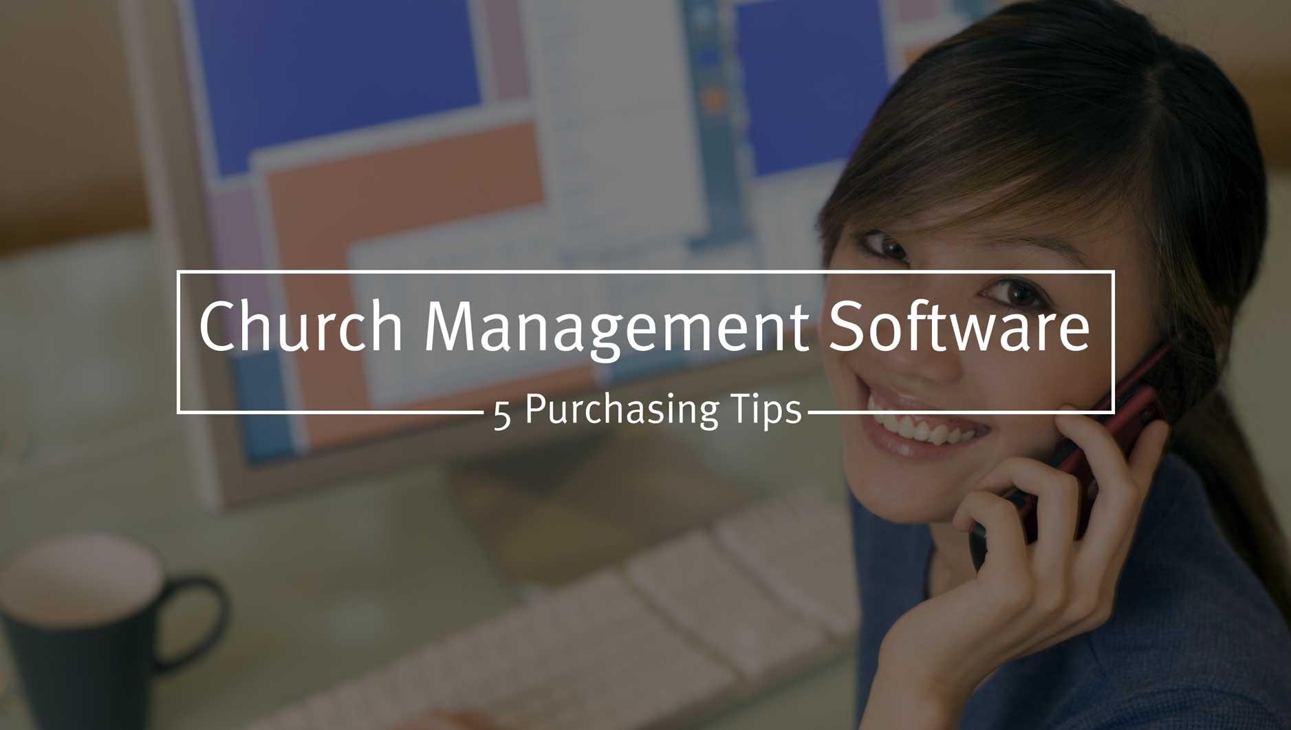 Church Management Software Purchasing