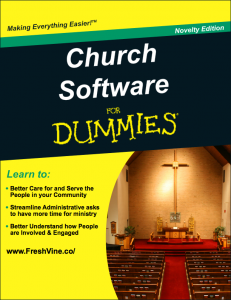 Church Software for Dummies Book