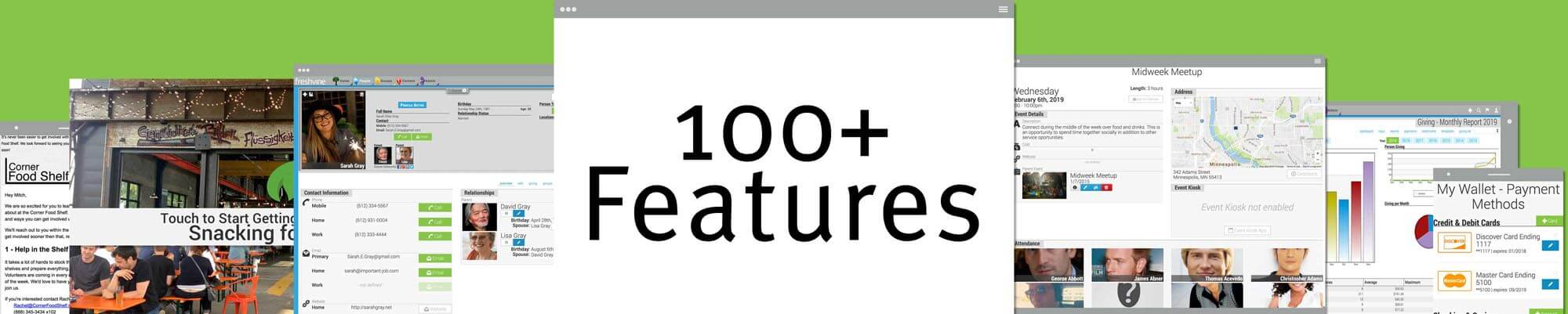 Over 100 Features For Nonprofit Software